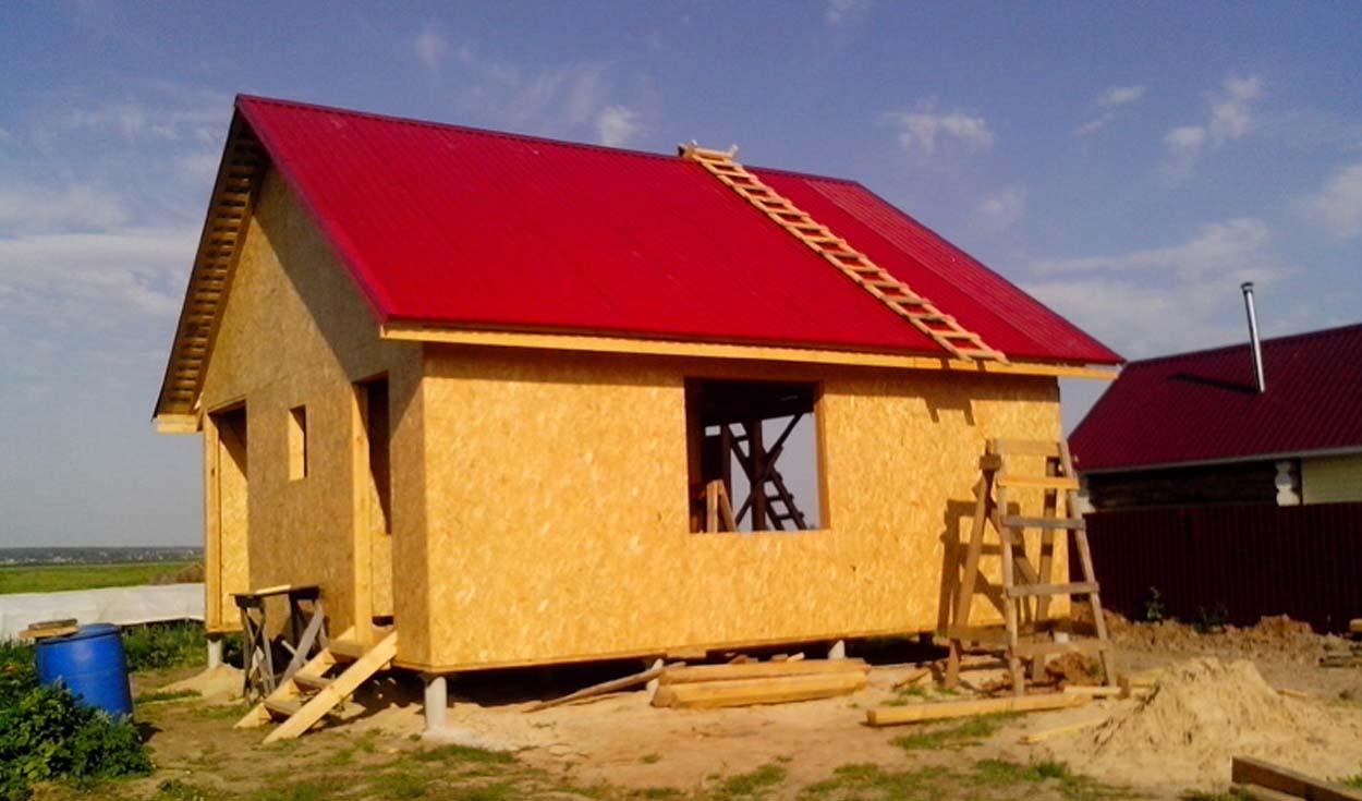 Строительство каркасного дома в с. Арбаны (РМЭ) 2015г
