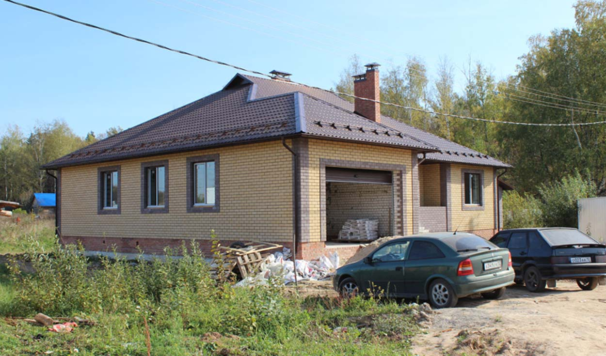 Строительство коттеджа в п. Звездный (РМЭ) 2015г