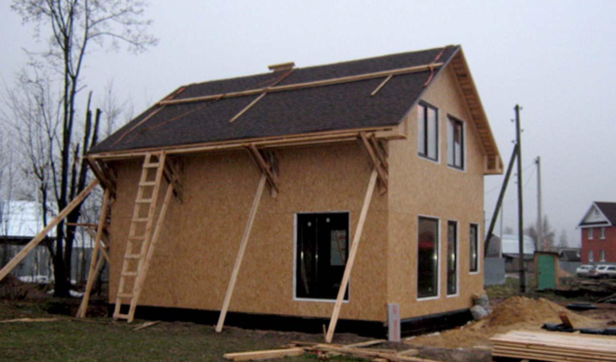 Строительство дачного каркасного дома д. Сенькино 2014г