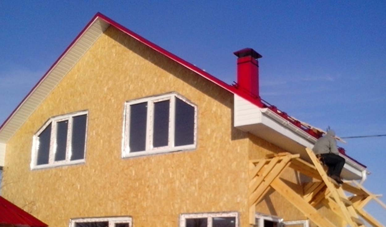 Строительство каркасного дома в д. Сидорово 2014г